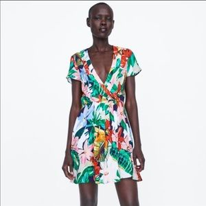 Zara Printed Mini Dress